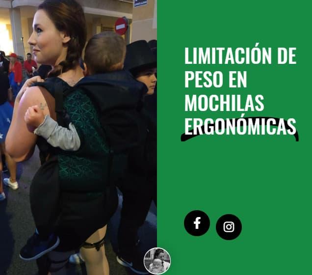 Limitación de peso en mochilas ergonómicas